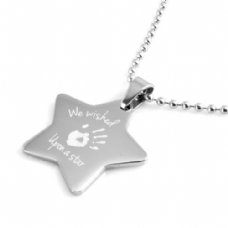 Wish upon a Star Handprint Necklace